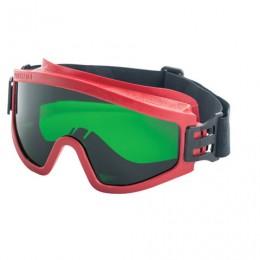 Очки защитные закрытые РОСОМЗ ЗП2 Super Panorama, зеленые, прямая вентиляция, незапотевающее покрытие, ацетат целлюлозы, 30228