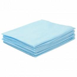 Простыни ЧИСТОВЬЕ нестерильные, комплект 20 шт., 80х200 см, СМС 14 г/м2, голубые, 02-904