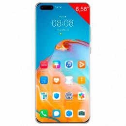"Смартфон HUAWEI P40 Pro, 2 SIM, 6,58"", 4G (LTE), 50/32 + 40 + 12, 256 ГБ, серебристый, металл, 51095CAS"