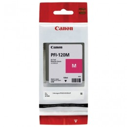 Картридж струйный CANON (PFI-120M) для imagePROGRAF TM-200/205/300/305, пурпурный, 130мл, ориг, 2887C001