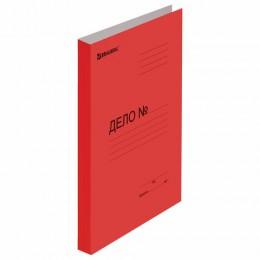 Скоросшиватель картонный мелованный BRAUBERG, гарантированная плотность 360 г/м2, красный, до 200 листов, 124575