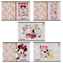 Альбом для рисования, А4, 20 листов, скоба, обложка картон, HATBER, 205х290 мм, Микки Маус-DISNEY (5 видов), 20А4В