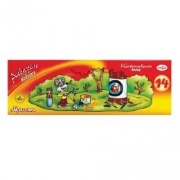 Краски акварельные ГАММА Мультики, 14 цветов, медовые, без кисти, картонная коробка, 211050