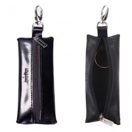 Футляр для ключей BEFLER Classic, натуральная кожа, на молнии, 55x135 мм, черный, KL.8.-1