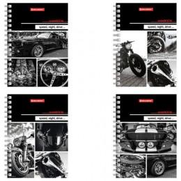 Записная книжка МАЛОГО ФОРМАТА (160х114 мм) А6, BRAUBERG, 80 листов, гребень, клетка, Мир моторов, 129842