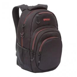 Рюкзак GRIZZLY молодежный, 1 отделение, карман для ноутбука, черный, 48x33x21 см, RQ-003-3/1