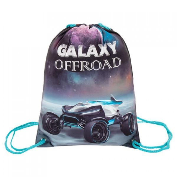Сумка для обуви BRAUBERG PREMIUM, карман, подкладка, светоотражающие элементы, 43х33 см, Galaxy offroad, 270285