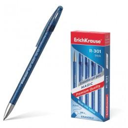 Ручка стираемая гелевая ERICH KRAUSE R-301 Magic Gel, СИНЯЯ, корп.синий, узел0,5мм,линия0,4мм, 45211