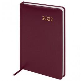 Ежедневник датированный 2022 А5 (138х213мм) BRAUBERG Select красный, 112775