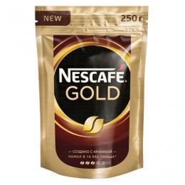 Кофе молотый в растворимом NESCAFE (Нескафе) Gold, сублимированный, 250 г, мягкая упаковка, 12143978