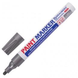 (СКОРО ПРИДЕТ) Маркер-краска лаковый (paint marker), 2-4 мм, серебряный, НИТРО-ОСНОВА, алюминиевый корпус, BRAUBERG, 151448