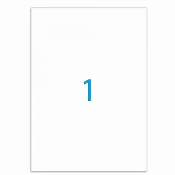 Этикетка самоклеящаяся 210х297 мм, 1 этикетка, белая, 70 г/м2, 50 листов, LOMOND, 2100005