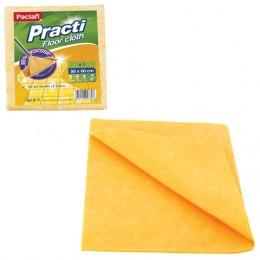 Тряпка для мытья пола, 50х60 см, 200 г/м2, вискоза (ИПП), оранжевые, PACLAN Practi Floor cloth, 163427