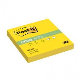 Блок самоклеящийся (стикер) POST-IT ORIGINAL Лето, 76х76 мм, 100 л., желтый неон, 654-ONY
