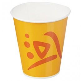 Одноразовые стаканы 300 мл, КОМПЛЕКТ 100 шт., бумажный однослойный, Whizz, для холодных напитков, HUHTAMAKI, -0181, 77131200-0181