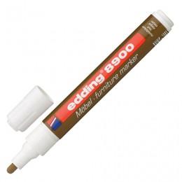Маркер лаковый для мебели (paint marker) EDDING 8900, ретуширующий, 1,5-2 мм, нитро-основа, грецкий орех светлый, E-8900/614