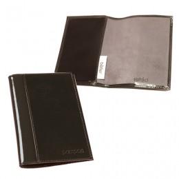 Обложка для паспорта BEFLER Classic, натуральная кожа, тиснение Passport, коричневая, O.21.-1