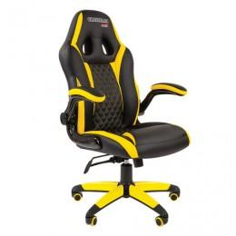 Кресло компьютерное СН GAME 15, экокожа, черное/желтое, 7028512