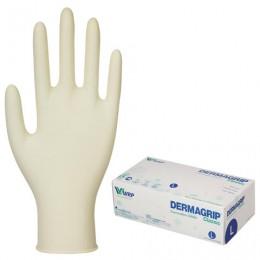 Перчатки латексные смотровые, КОМПЛЕКТ 50 пар(100шт),неопудр,хлоринация L Dermagrip Classic, шк1022, D1503-10