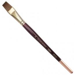 Кисть художественная KOH-I-NOOR колонок, плоская, №10, короткая ручка, блистер, 9936010010BL
