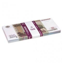 Деньги шуточные 100 рублей, упаковка с европодвесом, AD0000094
