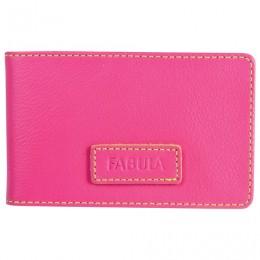 Визитница карманная FABULA Ultra, на 40 визиток, натуральная кожа, розовая, V.90.FP
