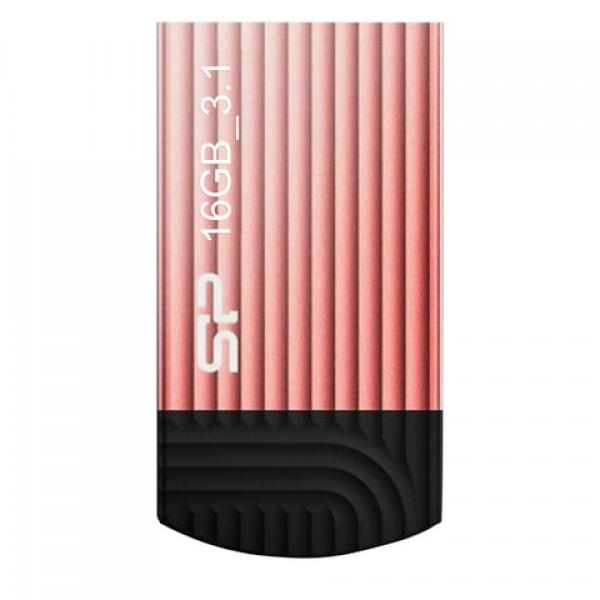 Флеш-диск 16 GB, SILICON POWER Jewel J20 USB 3.1, металлический корпус, розовый, SP16GBUF3J20V1P