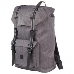 Рюкзак BRAUBERG молодежный с отделением для ноутбука, Кантри, серый меланж, 41х28х14 см, 227082