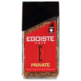 Кофе растворимый EGOISTE Private, сублимированный, 100 г, 100% арабика, стеклянная банка, EG10009006
