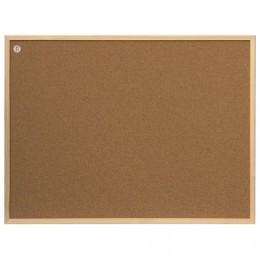 Доска пробковая 80x60 см, деревянная рамка, ECO