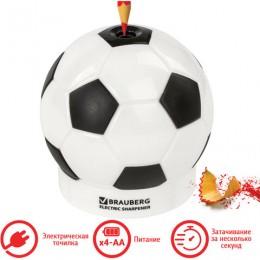 Точилка электрическая BRAUBERG Football, питание от 4 батареек АА, дополнительное сменное лезвие, 228427