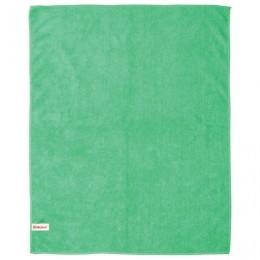 Тряпка для мытья пола, плотная микрофибра, 50х60 см, зеленая, ЛАЙМА, 601251