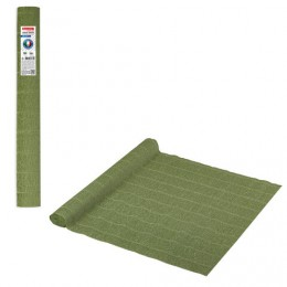 Бумага гофрированная (ИТАЛИЯ) 140г/м, зеленый шалфей (962), 50х250см, BRAUBERG FLORE, 112576
