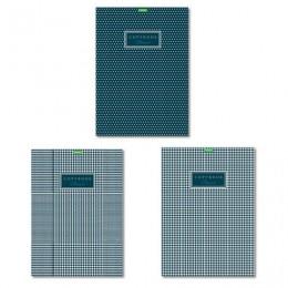 Тетрадь А4 80л. HATBER ECO скоба, клетка, обложка картон, Classic (3 вида), 80Т4C3