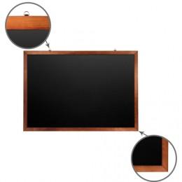 Доска для мела магнитная BRAUBERG, 100х150 см, черная, деревянная окрашенная рамка, Россия, 236895