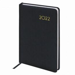 Ежедневник датированный 2022 А5 (138х213мм) BRAUBERG Select черный, 112777