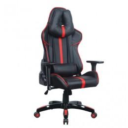 Кресло компьютерное BRABIX GT Carbon GM-120, две подушки, экокожа, черное/красное, 531931