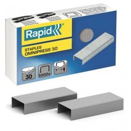 Скобы для степлера RAPID Omnipress 30 №24/6, 1000 штук, до 30 листов, 5000559