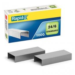 Скобы для степлера RAPID Standard, №24/6, 1000 штук, до 20 листов, 24855600