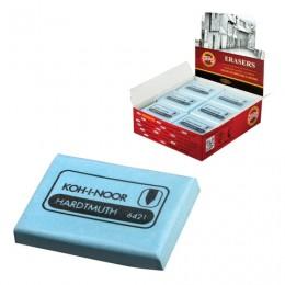 Ластик-клячка KOH-I-NOOR, 47x36x10 мм, голубой, мягкий, прямоугольный, натуральный каучук, 6421018009KD