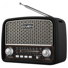 Радиоприёмник SVEN SRP-555, 3 Вт, FM/AM/SW, USB, microSD, встроенная антенна, пластик, черный, SV-017170