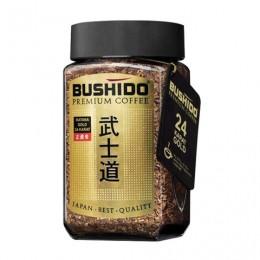 Кофе растворимый BUSHIDO Katana Gold 24 Karat, сублимированный с пищевым золотом, 100 г, 100% арабика, стеклянная банка, BU10009005