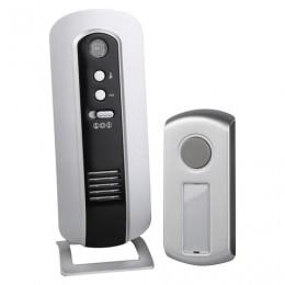 Звонок беспроводной ЭРА C108, 6 мелодий, подсветка динамика, регулятор громкости, до 100 м, IP44, белый