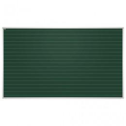 Доска для мела магнитная, 85x100 см, зеленая, в линию, алюминиевая рамка, EDUCATION 2х3(Польша), TKU8510L