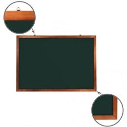 Доска для мела магнитная BRAUBERG, 100х150 см, зеленая, деревянная окрашенная рамка, Россия, 236894