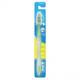 Зубная щетка ORAL-B (Орал-Би) 1-2-3 Чистота-Свежесть-Сила, средняя