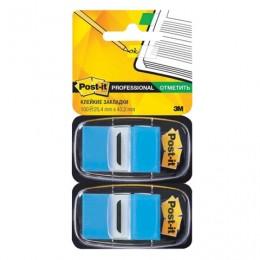 Закладки клейкие POST-IT Professional, пластиковые, 25 мм, 100 шт., голубые, 680-BB2