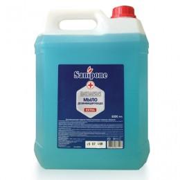 Мыло жидкое дезинфицирующее, 5 л, SANIPONE