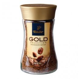 Кофе растворимый TCHIBO Gold selection, сублимированный, 190 г, стеклянная банка, -