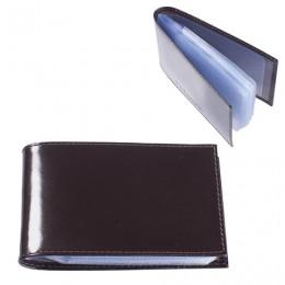 Визитница карманная BEFLER Classic на 40 визитных карт, натуральная кожа, коричневая, V.30.-1